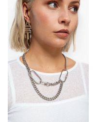 TOPSHOP - carabina Multirow Chain Necklace - Lyst