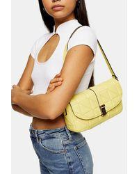 TOPSHOP Idol Savannah Lime Green 90's Shoulder Bag