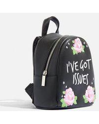 Skinnydip London - julia Michaels I've Got Issues Mini Backpack By Skinnydip - Lyst