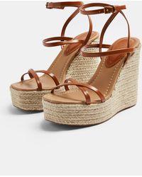 TOPSHOP Illawedge Sandals - Brown