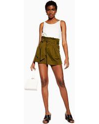 TOPSHOP Cargo-Shorts Tall-Größe - Grün