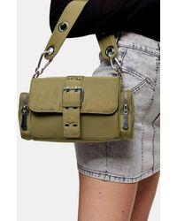 TOPSHOP Khaki Nylon Buckle Shoulder Bag - Multicolour