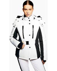 TOPSHOP - Geri Snowsports Jacket With Faux Fur Trim - Lyst