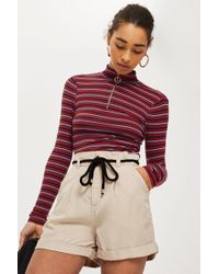 TOPSHOP   Rope Casual Shorts   Lyst