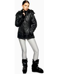 TOPSHOP - Hooded Jacket By Sno - Lyst