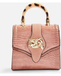 e1e8ee4519 Lyst - TOPSHOP Rebecca Bird Embroidered Shoulder Bag in Gray