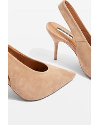 TOPSHOP - Gail Slingback Heeled Shoes - Lyst