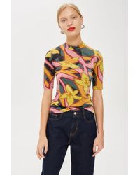 TOPSHOP - Scarf Print T-shirt By Boutique - Lyst
