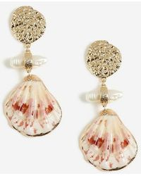 TOPSHOP Shell Drop Earrings - Metallic