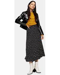 TOPSHOP - Star Tie Pleated Midi Skirt - Lyst
