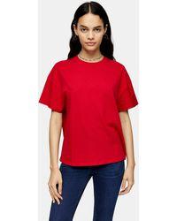 TOPSHOP Tall Red Weekend T-shirt