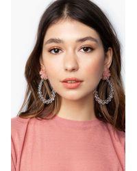 TOPSHOP beaded Flower Earrings - Multicolor
