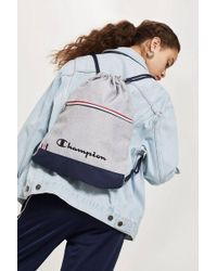 TOPSHOP - Drawstring Backpack By - Lyst