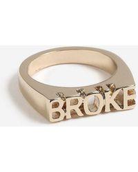 TOPSHOP - broke Ring - Lyst