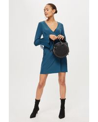 TOPSHOP - Petite Wrap Dress - Lyst
