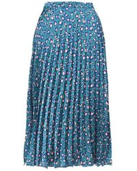 Glamorous leopard Printed Pleated Skirt By - Green