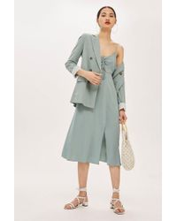 TOPSHOP - Petite Ruched Front Molly Midi Dress - Lyst