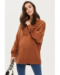 c6d1bd839d1454 TOPSHOP Soft Fluffy Jumper By Oh My Love in Red - Lyst