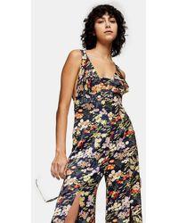 TOPSHOP - Idol Floral Print Jumpsuit - Lyst