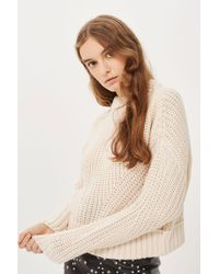 TOPSHOP - Boxy Cropped Jumper - Lyst