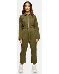 TOPSHOP Mabel Utility Jumpsuit - Green
