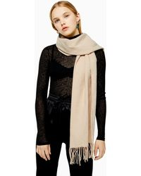 TOPSHOP Considered Camel Super Soft Scarf With Recycled Polyester - Natural