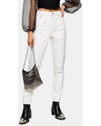 TOPSHOP Considered White Mom Tapered Jeans