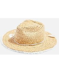 TOPSHOP - Embroidered Straw Hat - Lyst