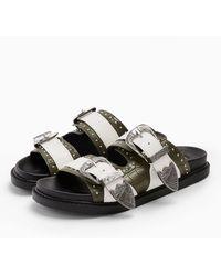 TOPSHOP Peru Buckle Footbed Sandals - Multicolor