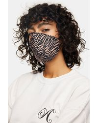 TOPSHOP 3 Pack Black, Animal And Camouflage Fashion Face Mask