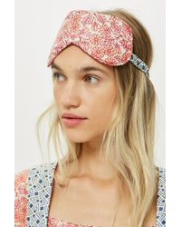 TOPSHOP - Key To Freedom Floral Eyemask - Lyst