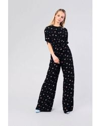 TOPSHOP - ditsy Tie Front Jumpsuit By Glamorous - Lyst