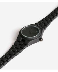 TOPSHOP - Black Rubberised Link Watch - Lyst