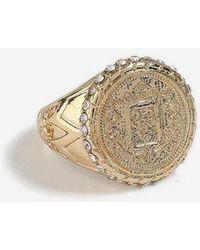 TOPSHOP - mega Coin Signet Ring - Lyst