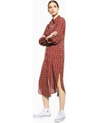 10aa1492d11 TOPSHOP - snake Seamed Ovoid Silk Dress By Boutique - Lyst