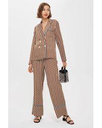 TOPSHOP Pantalon de pyjama à motif géométrique - Multicolore