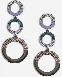 TOPSHOP - Circle Drop Earrings - Lyst