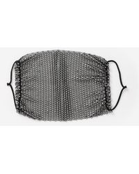 TOPSHOP Rhinestone Face Mask Covers - Black