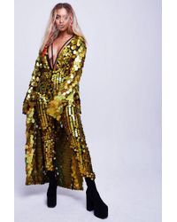 Jaded London - gold Hologram Large Sequin Kimono By - Lyst
