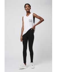 TOPSHOP High Waisted Ankle Leggings - Black