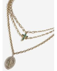 TOPSHOP - cross And Saint Multirow Necklace - Lyst