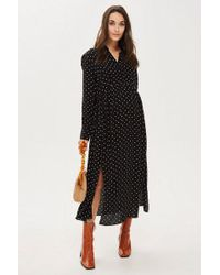 TOPSHOP - maternity Spot Pleated Shirt Dress - Lyst