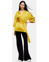 TOPSHOP chartreuse Shell Blouse By Boutique - Yellow