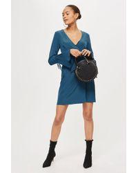 TOPSHOP - Tall Mini Wrap Dress - Lyst