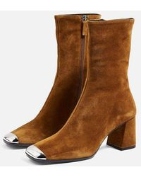 TOPSHOP - Maxwell Suede Ankle Boots - Lyst