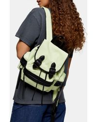 TOPSHOP Lime Green Mini Nylon Backpack