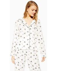 64c86e9cd1 TOPSHOP Bird Print Pyjama Nightshirt - Lyst