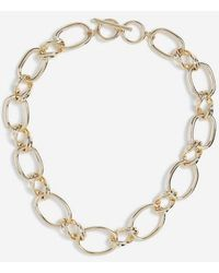 TOPSHOP - Chunky Double Link Necklace - Lyst