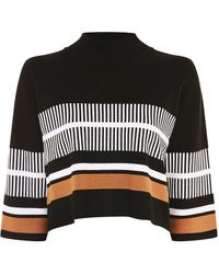 Native Youth - High Neck Striped Jumper By Native Youth - Lyst
