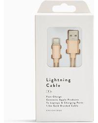 TOPSHOP Câble de recharge type C - Métallisé
